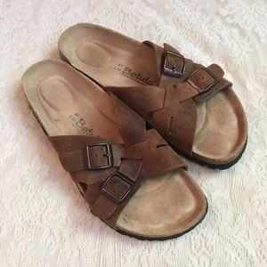 Betula Birkenstock criss cross leather  sandals